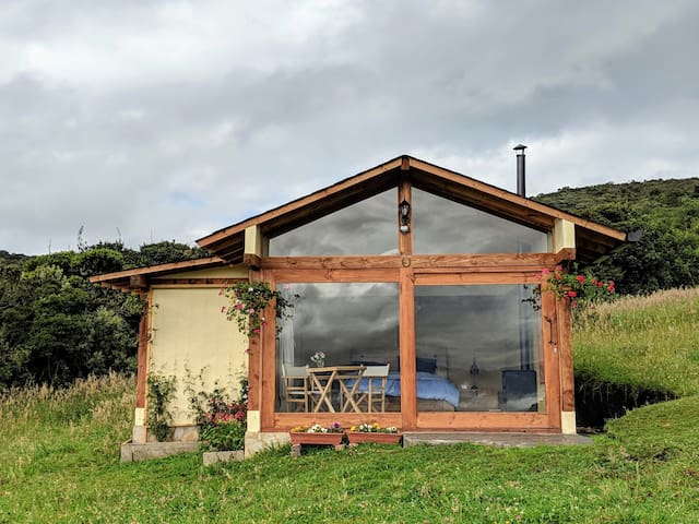 A magical cabin nestled in the Andes mountains! Ideal for the perfect romantic get-away or to simply escape the hustle and bustle of the city!