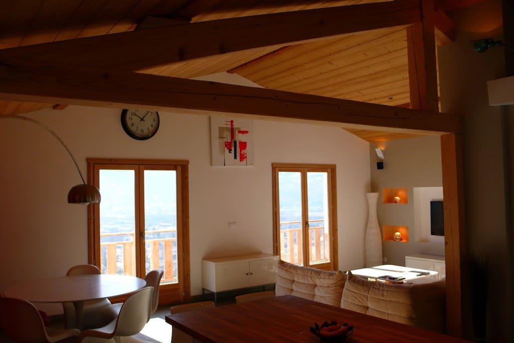 double porte/fenetre pour accéder au balcon