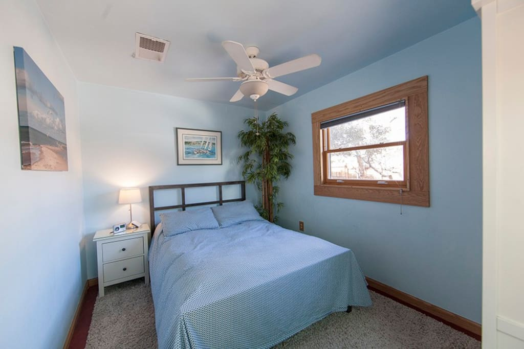 Very tranquil bedroom with full bed, waiting for your arrival.