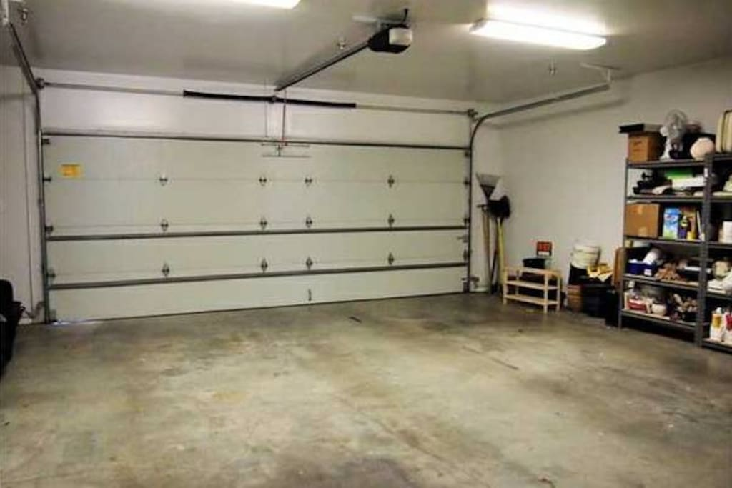 Private garage with ample parking.