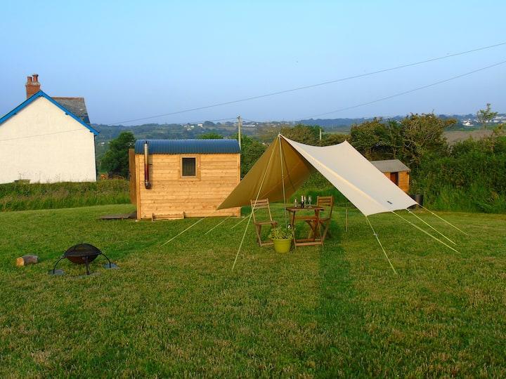 A beautiful hut set on a Cornish working farm