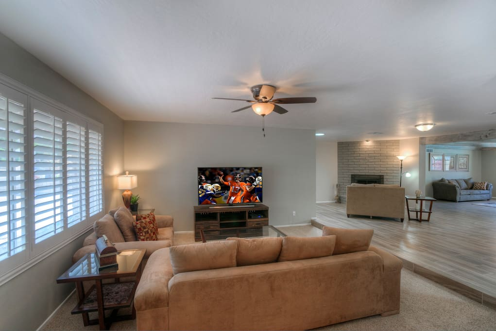 Open Living Room with 65in TV