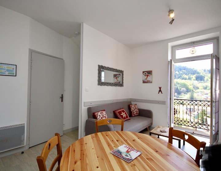 Appartement T3  avec balcon vue sur la montagne