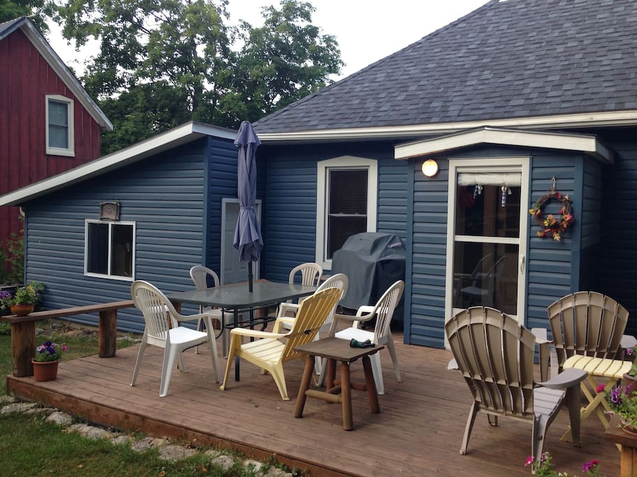 Back Deck, lots of seating to enjoy outside