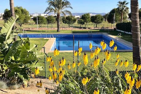 Close to beach, golf,  pool and your own terrace
