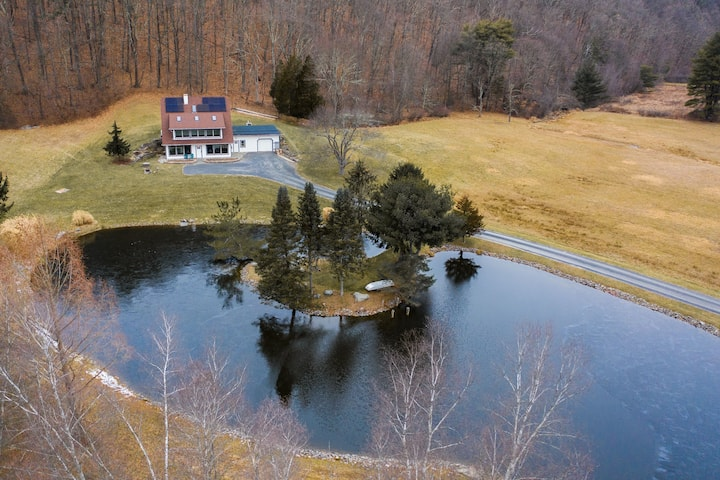 Saugerties Farmhouse with Wood Stove, Fishing Pond and Private Trails