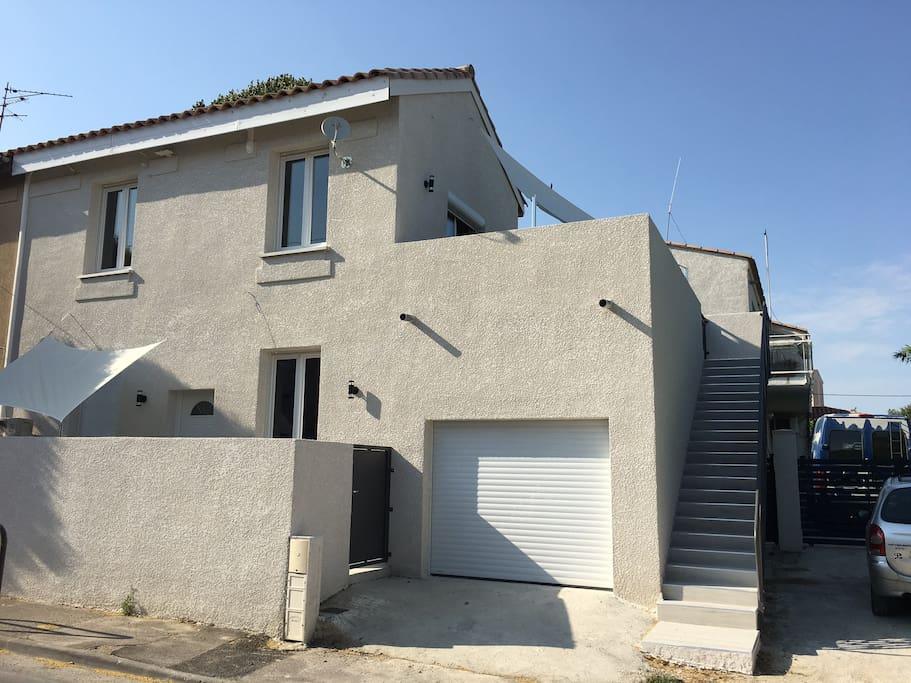 Loft avec terrasse solarium spa et bbq lofts louer Loft et terrasse