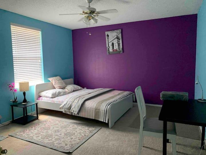 Cozy room in Grand Prairie House - Room B