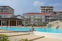 appartement dans domaine avec piscine 3chambres