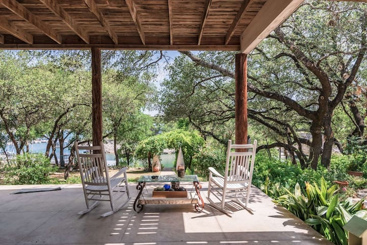 Bring the Boat & Don't Forget the Dog. South Shore Lake Travis Waterfront Property Calling Your Name