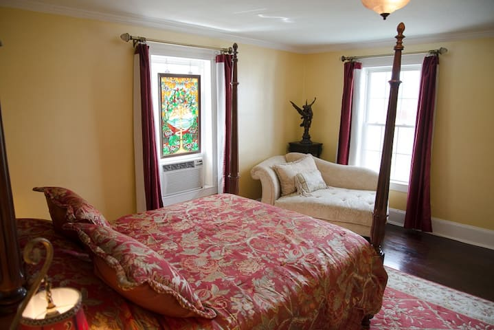 The Hawksbill Bedroom is well appointed for guest to relax in comfort after an active day in the Shenandoah