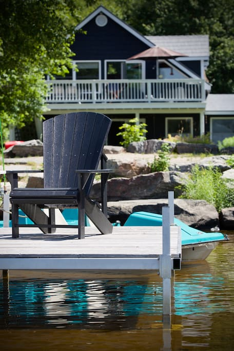 Have your morning coffee on a Muskoka chair on the dock