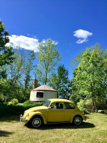Our 1973 Beetle finally back on the road!