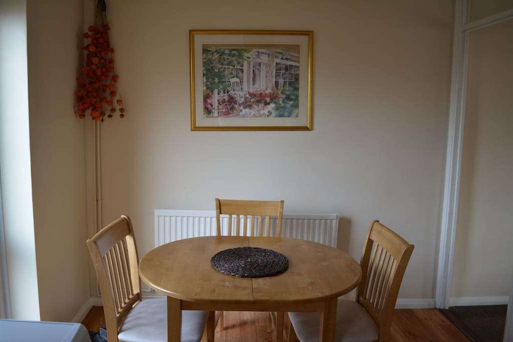 Kitchen table and dining area