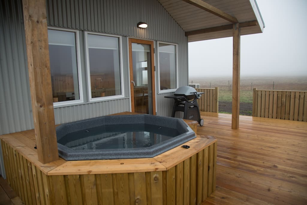 Private hot tub and a gas bbq on the patio