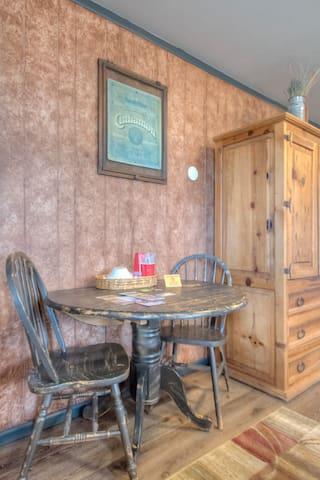 Quaint dining area/workspace