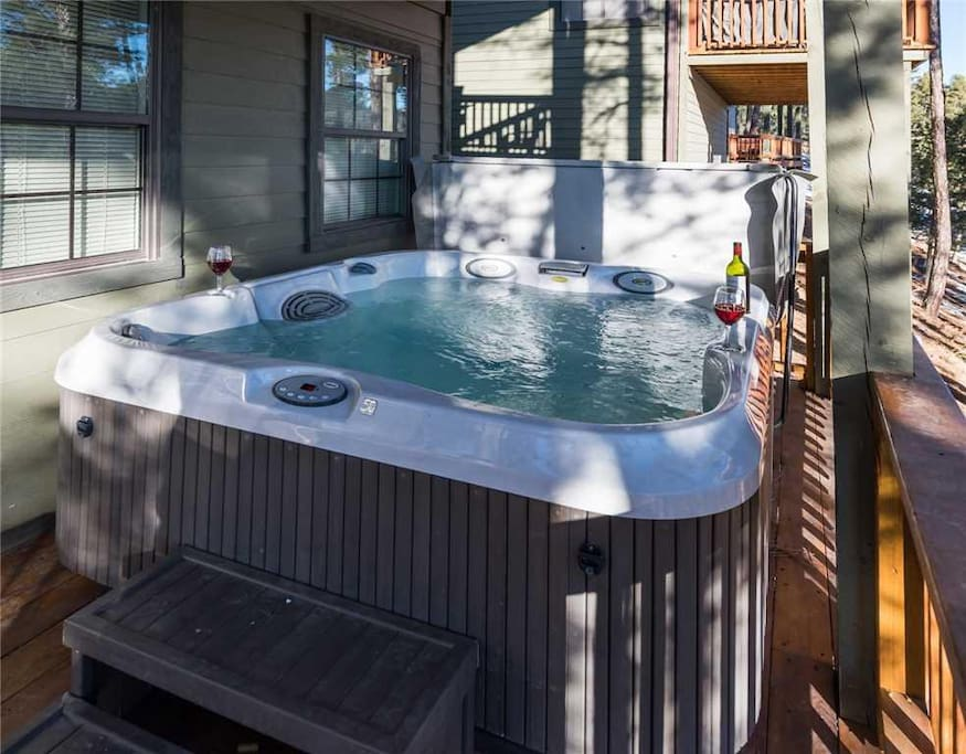 Hot Tub Living - A relaxing soak in the hot tub after a day of shopping is the perfect end to a long day.