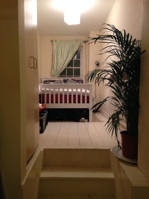 This is the smaller of the two bedrooms