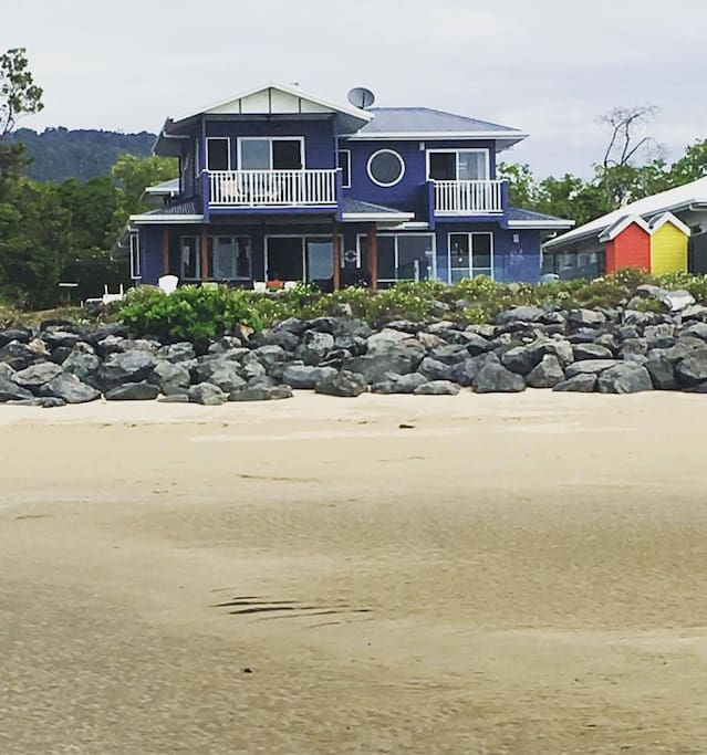 View of main house from the beach