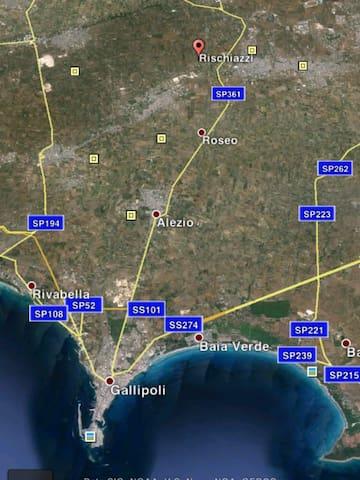 A 10 minuti da Gallipoli, Baia Verde, Lido Conchiglie