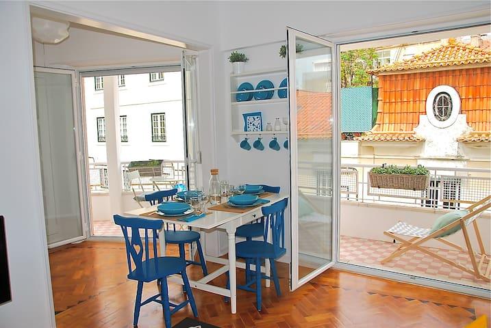 Sunny apartment with a balcony