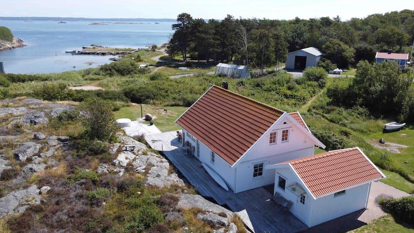 Small cottage on bird island