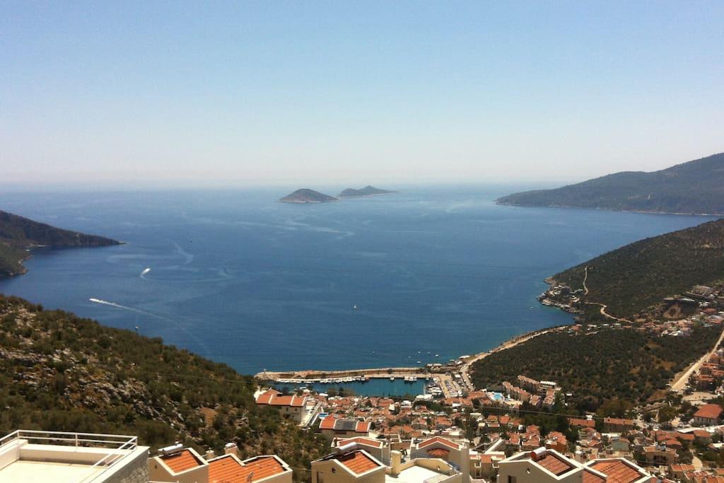 View from villa over Kalkan Bay