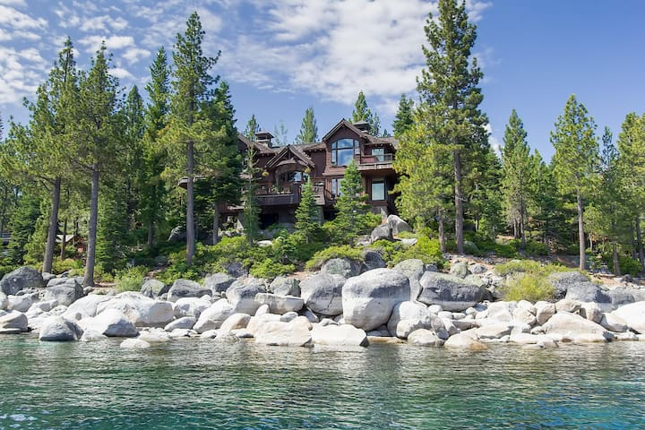 Rockhaven Tahoe Lake Front Estate w/Private Beach - Tahoma - Casa