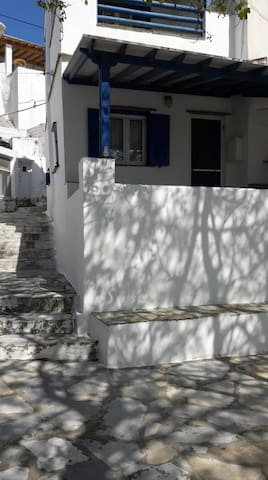Traditional Cycladic stone-built house