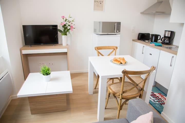 appartement centre ville lumineux 2 pers(1er étage - Albi - Wohnung