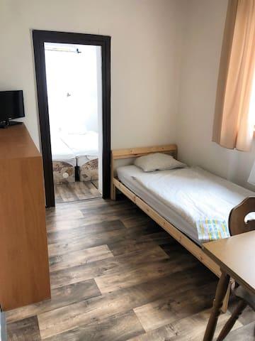 3 lůžkový pokoj 2+1 v centru Mělníka