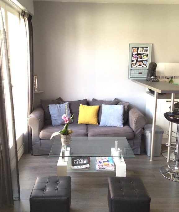 charmant studio neuf 5min du metro apartments for rent in issy les moulineaux le de france. Black Bedroom Furniture Sets. Home Design Ideas