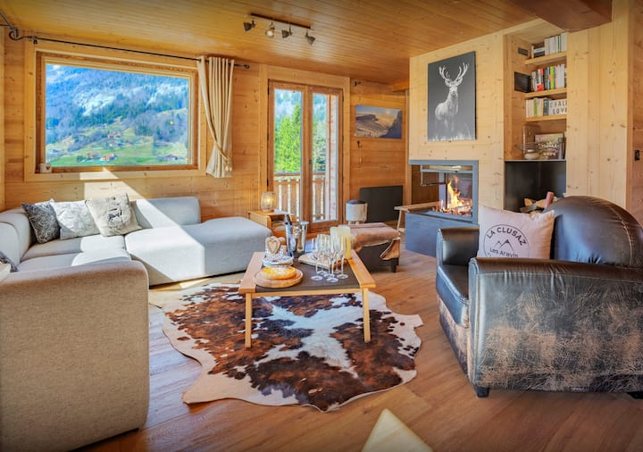 4-star chalet for 8 - terrace with hot tub and summer pool - OVO Network