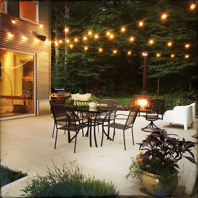 The spacious back patio is a wonderful place to relax.
