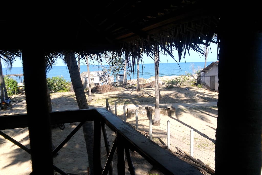 Sea view from our cabana