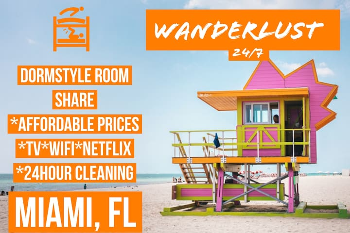 ***DormStyle Room share 9 minutes to Wynwood!***