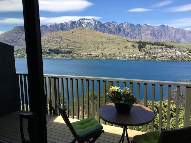View of Lake Wakatipu & The Remarkables from the Lounge