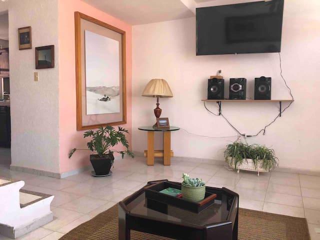 Sala y area de entretenimiento