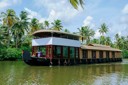 A/c deluxe room in a shared houseboat - Thanneermukkom - Vaixell