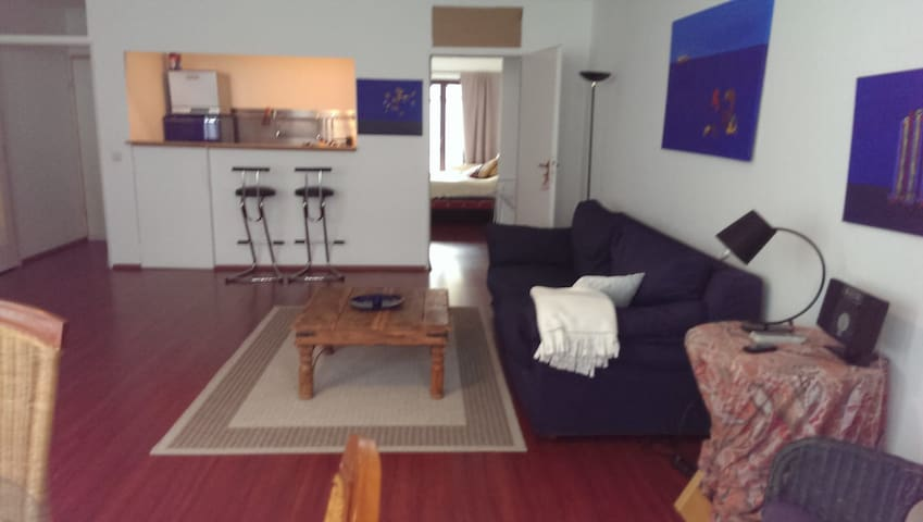 Central spacious apartmt, QueenBed, calm, balkony
