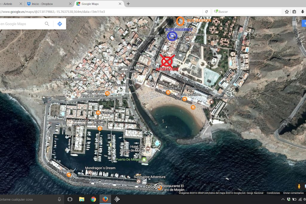 Apartment location. Near of the beach, supermarket, bus station.