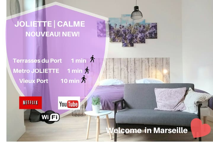 ★ Metro Joliette ☀️ Licht ❤️ Great Beds ✔ Quiet