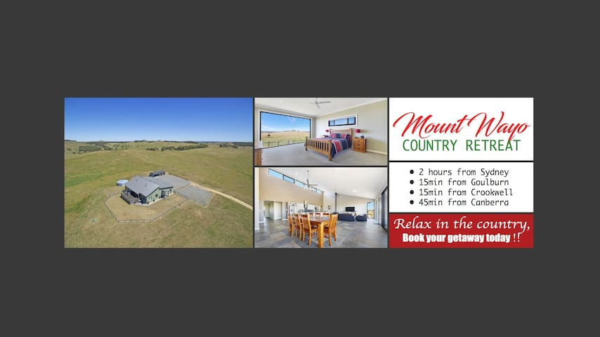 MOUNT WAYO COUNTRY RETREAT - Goulburn (Sleeps 10)