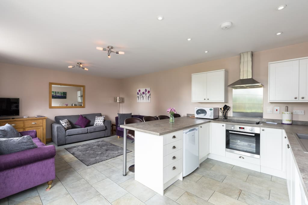 Self Catering Kitchen & Living Area