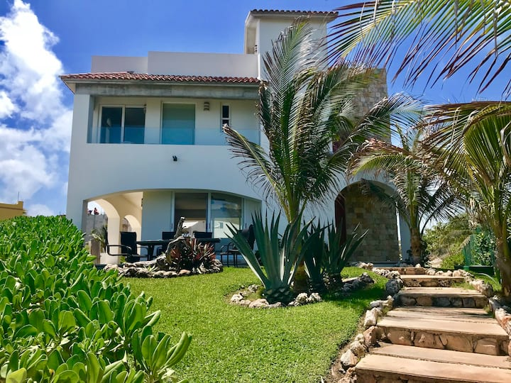 Casa Corazon en Isla Mujeres vista al Mar Caribe
