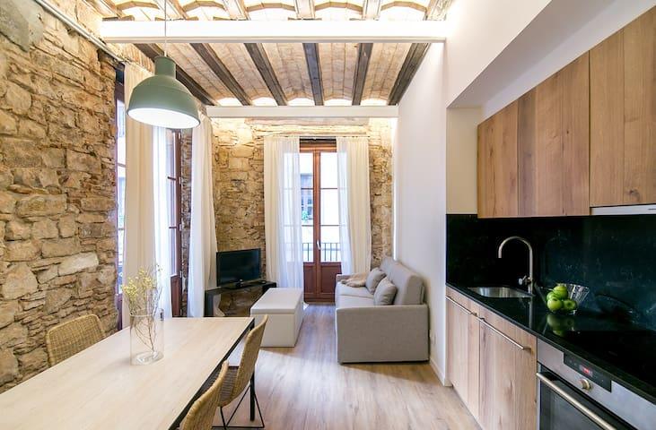 Apartamento reformado para 1/2 personas en el Born