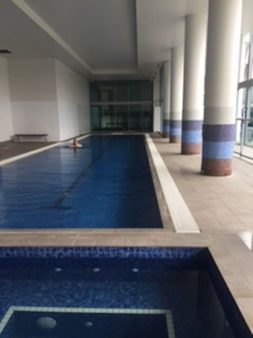 Indoor heated pool, spa & sauna