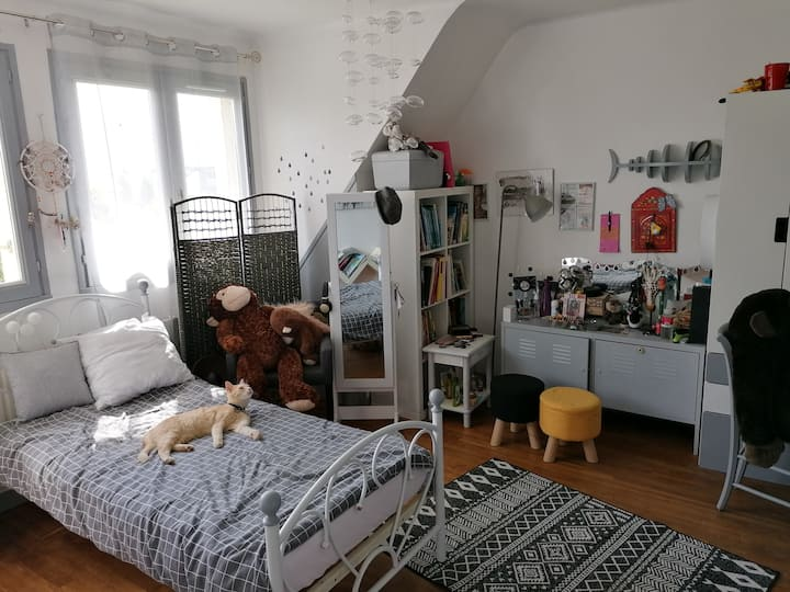 Maison calme, spacieuse et lumineuse