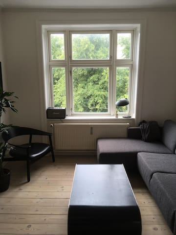 Bright 2 room apartment just next to Nørrebro park