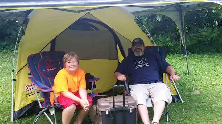 Norris Lake Front Campsites and Tents Available.